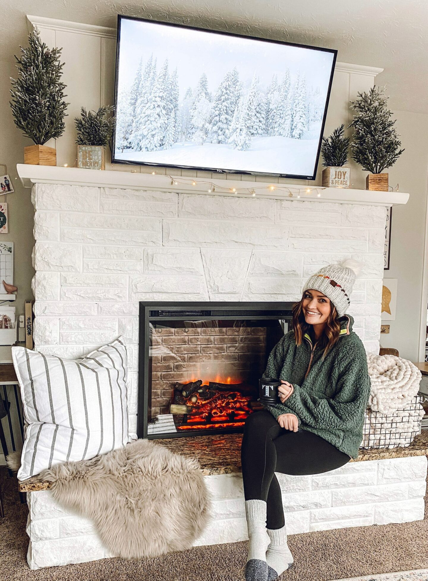 cozy painted fireplace Cozy Fireplace Update