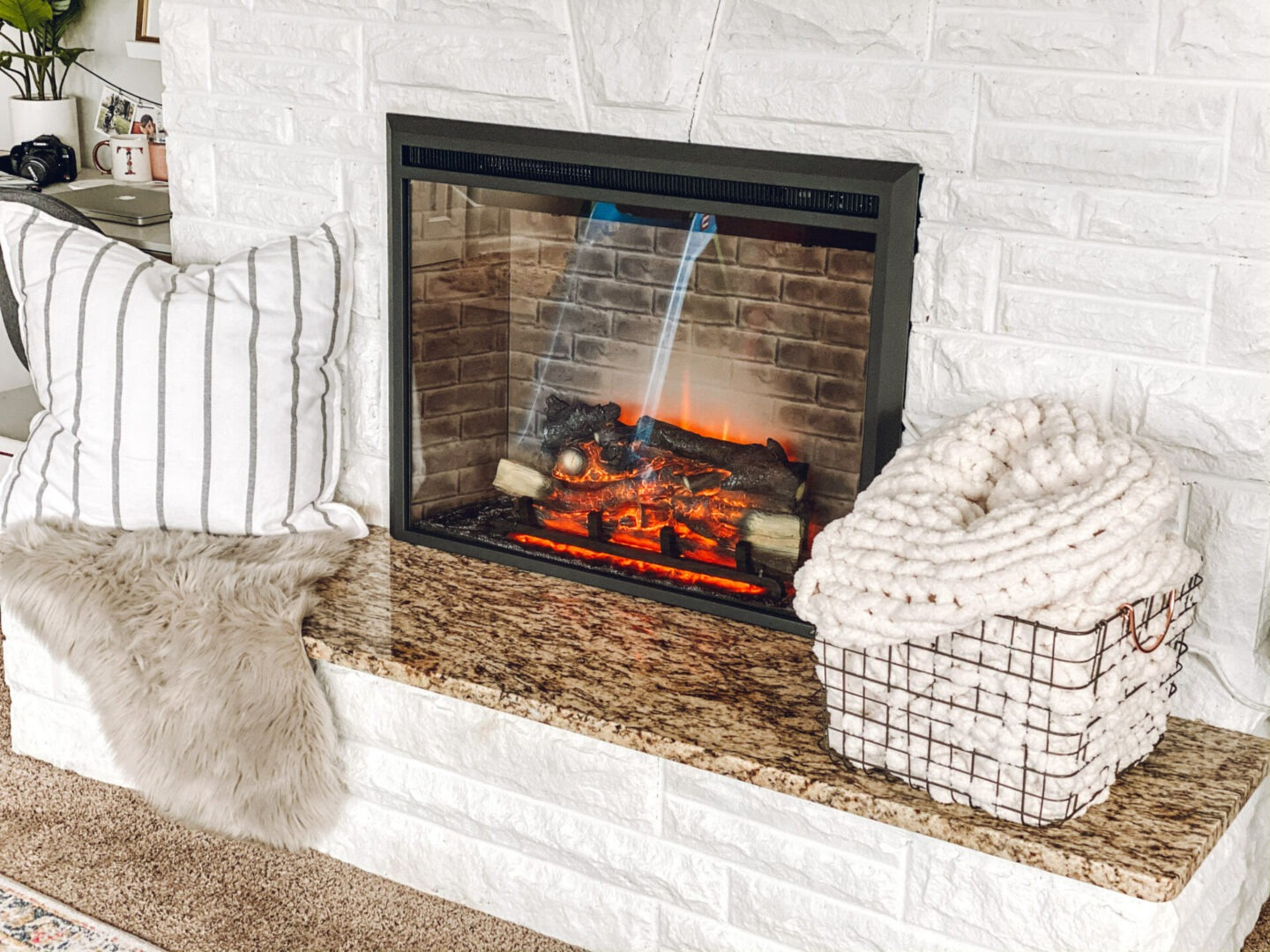 electric fireplace Cozy Fireplace Update