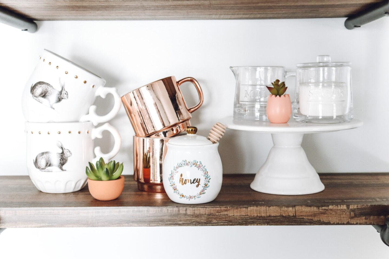 Easter shelf decor